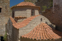 Tilos: the roofs of the church of Agios Panteleimon by Danita Delimont