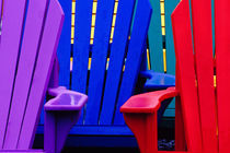 Colorful adirondack chairs von Danita Delimont