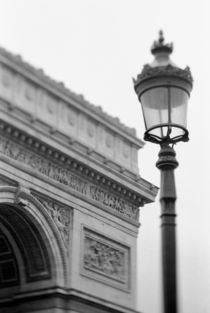 Arc de Triomphe and streetlamp by Danita Delimont