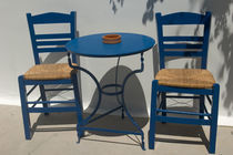 Kos: table and chairs von Danita Delimont
