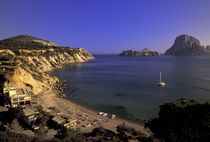 Cala d'Hort Beach view by Danita Delimont