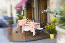 Selective Focus of Sidewalk Cafe' by Danita Delimont