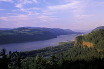 Vista House and Columbia River Gorge from Chanticleer Point by Danita Delimont