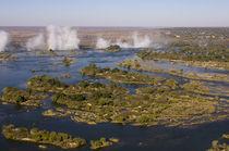 Zambia - Zimbabwe border by Danita Delimont