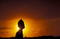 Balanced Rock silhouetted at sunset by Danita Delimont