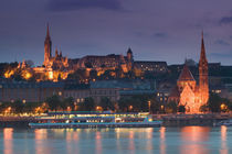 Calvinist Church & Danube River / Evening von Danita Delimont