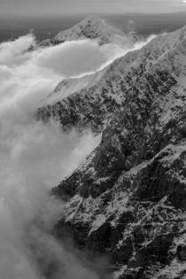 Aerial view of Alaska Range peaks by Danita Delimont