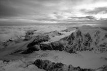 Aerial view of Alaska Range peaks von Danita Delimont