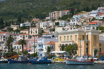 Vathy (Samos Town): Town View with Harbor / Late Afternoon by Danita Delimont