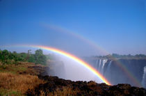 Double rainbow over Victoria Falls by Danita Delimont