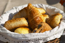 And chocolate breads (pain au chocolat) Clos des Iles Le Brusc Six Fours Cote d'Azur Var France by Danita Delimont