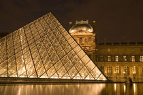 The Louvre at twilight by Danita Delimont