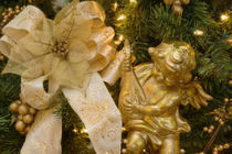 Close-up of decorations on a Christmas tree von Danita Delimont