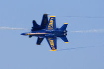 Blue Angels perform knife-edge pass during 2006 Fleet Week airshow in San Francisco by Danita Delimont