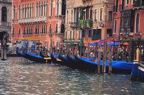 Gondolas in canal von Danita Delimont