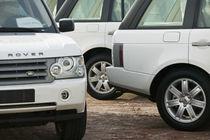 Dubai Camel Racing Track- Range Rover VIP Cars by Danita Delimont