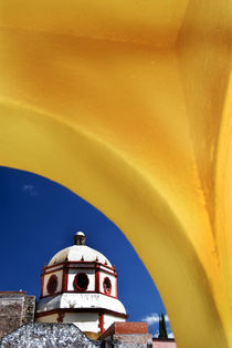 Church framed with yellow arch by Danita Delimont