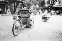 Cyclo in Old Hanoi by Danita Delimont