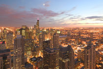 Chicago: Evening View of The Loop from the Park Hyatt Hotel von Danita Delimont