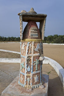 A monument on the site of a Portuguese fort used to ship millions of slaves off to colonies by Danita Delimont