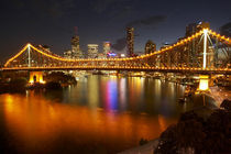 And Brisbane CBD at Dusk by Danita Delimont