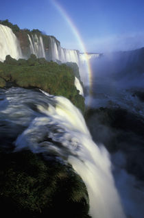 Iguassu Falls Falls with rainbow by Danita Delimont