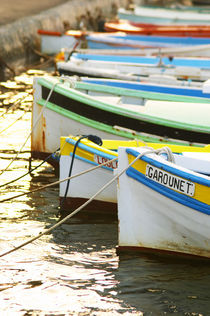 Moored at a jetty Le Brusc Six Fours Var Cote d'Azur France von Danita Delimont