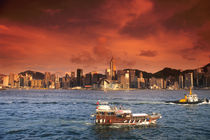 Hong Kong Harbor at Sunset von Danita Delimont