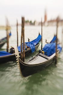 Selective Focus of Gondola in the Canals of Venice by Danita Delimont