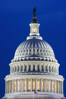 Close-up of the Capitol Building dome at night von Danita Delimont
