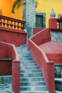 Colorful stairways to Cultural Center by Danita Delimont