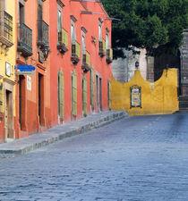 Homes along cobblestone street von Danita Delimont