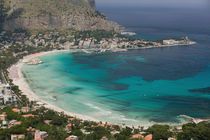 View of the beach from Monte Pellegrino von Danita Delimont