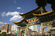 Memorial Arch of the Golden Horse and Jade Rooster in Jinmabiji Square / Daytime by Danita Delimont