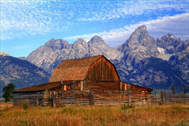 Historic Barn with Teton Mountains by Danita Delimont