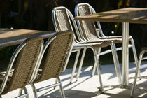 Becici Beach - Beach Cafe Tables and Chairs by Danita Delimont