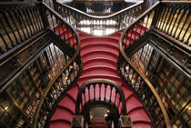 Stairs in historic bookstore by Danita Delimont