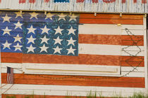 American flag painted onto fireworks stand near Potlatch Idaho by Danita Delimont