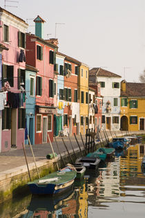 Colorful houses of line a canal by Danita Delimont