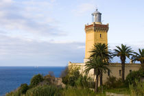 Tangier Morocco lighthouse at Cap Spartel overlooking the Mediterranean & the Atlantic Ocean by Danita Delimont