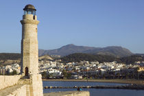 Rethymno: Venetian Harbor with lighthouse / Sunset von Danita Delimont
