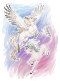 Pegasus and Unicorn by Eloise Moffatt