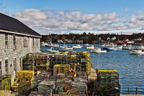 Lobster traps, Bernard, Maine, USA by John Greim