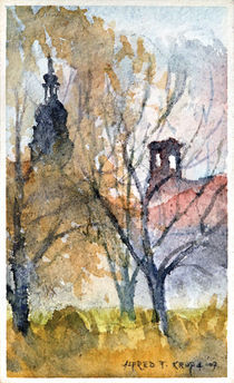 Two churches by Alfred Freddy Krupa (Kruppa)