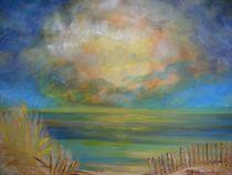 Orage sur la mer à la Grande Motte von myriam courty
