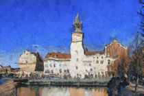 Prague buildings, van Gogh style von Graham Prentice