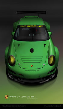 Porsche 911 997 GT3 RSR green  by Robert Prispilovic