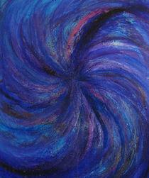 Blue Swirl Vortex von Gina Hampton