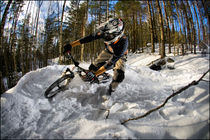 winter downhill biker von Stephan  Sutton