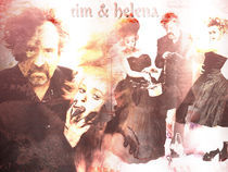 Tim Burton & Helena Bonham Carter von Lorenza Dona'